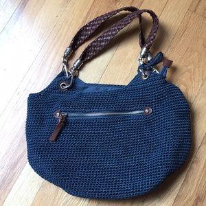 The Sak denim blue/strong vegan leather braid